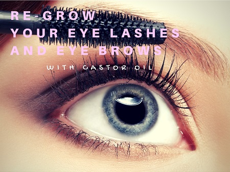 castor oil for eye brows eye lashes