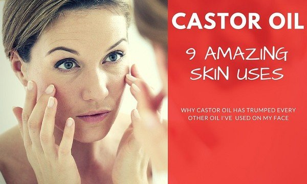 castor oil skin uses on face